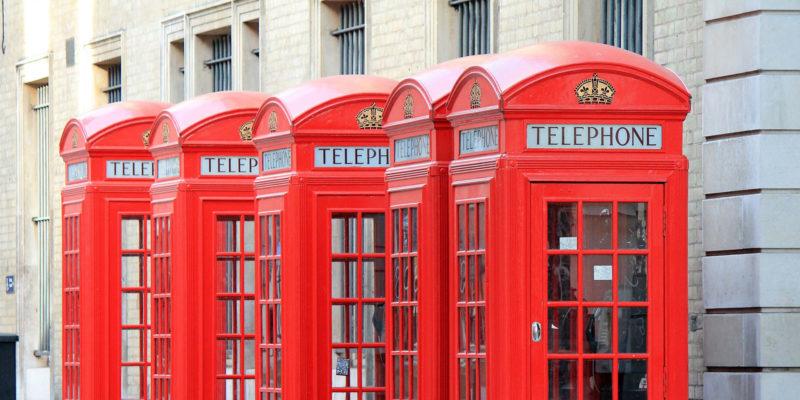 Cabinas telefónicas rojas en Londres