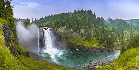 Snoqualmie Falls, a 30 minutos de Seattle