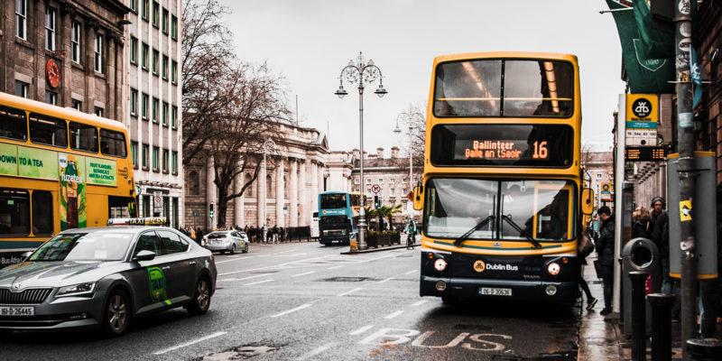 Medios de transporte público en Dublín
